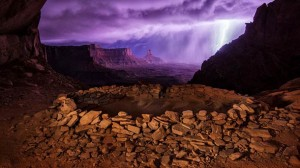 Thunderstorm at False Kiva – Photo by Max Seigal