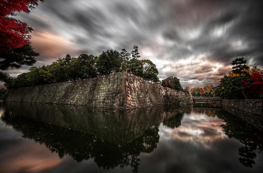 Kyoto Nijo-jo Sunset