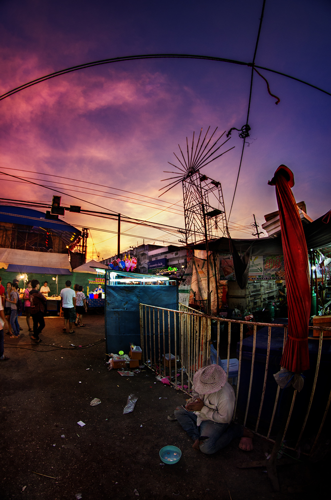 Evening, Thailand, Clouds, Sunset, Sukhothai - Kamphaeng Phet, André Alessio, Graphylight, Portraits of Thailand