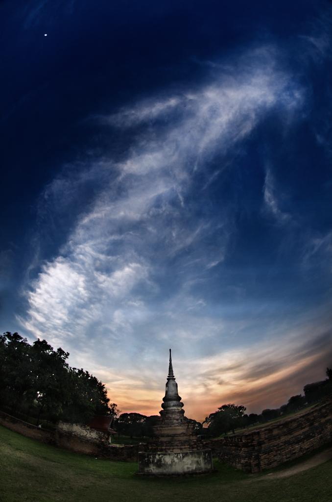 Coucher de soleil, Ayutthaya