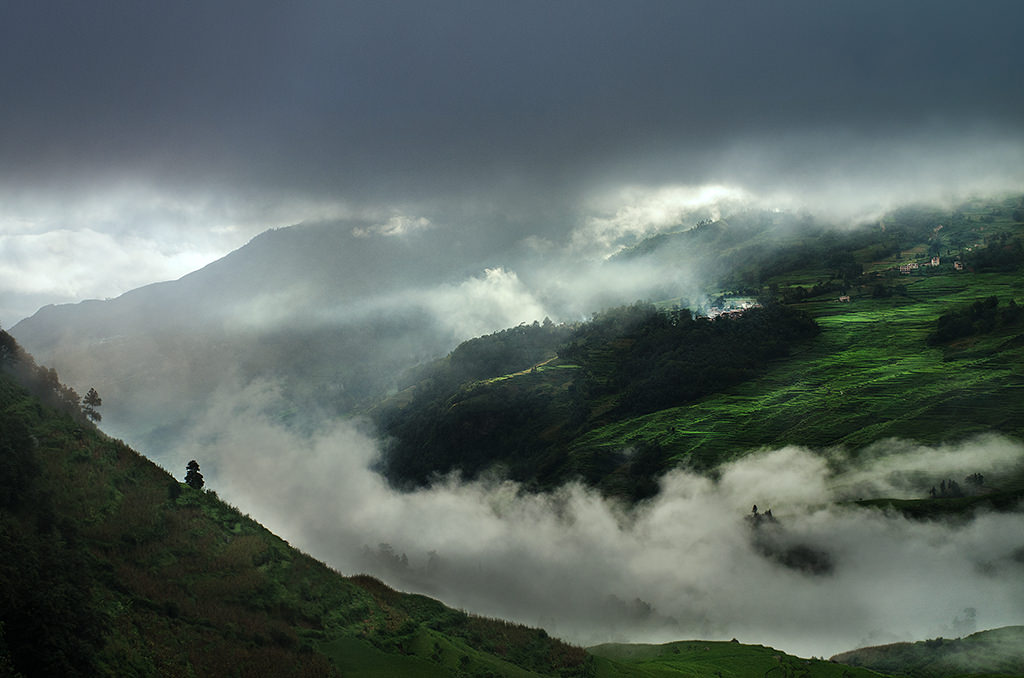 Clouds, Brumes, Rice fields, Yuanyang