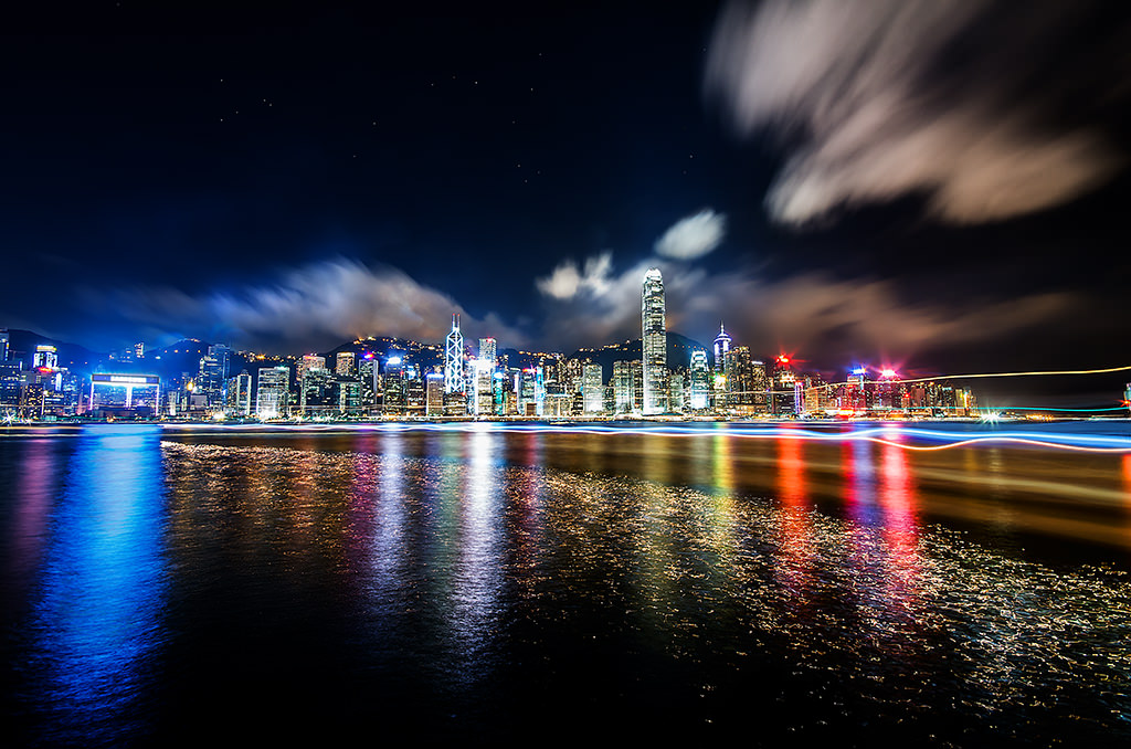 Pier, Hong Kong, Harbour, Night, Long Exposure