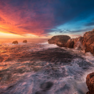 André Alessio, Portugal, Graphylight, Sunset, Alentejano, Sea, Clouds, sunset