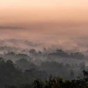 Borobudur, sunrise, Clouds, Nurages, André Alessio