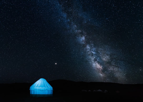 André Alessio, Graphylight, Photographe Montpellier, Kirghisistan, Voie lactée, Yourte, Yurt, Son Kul, Milky Way, Lake, Lac